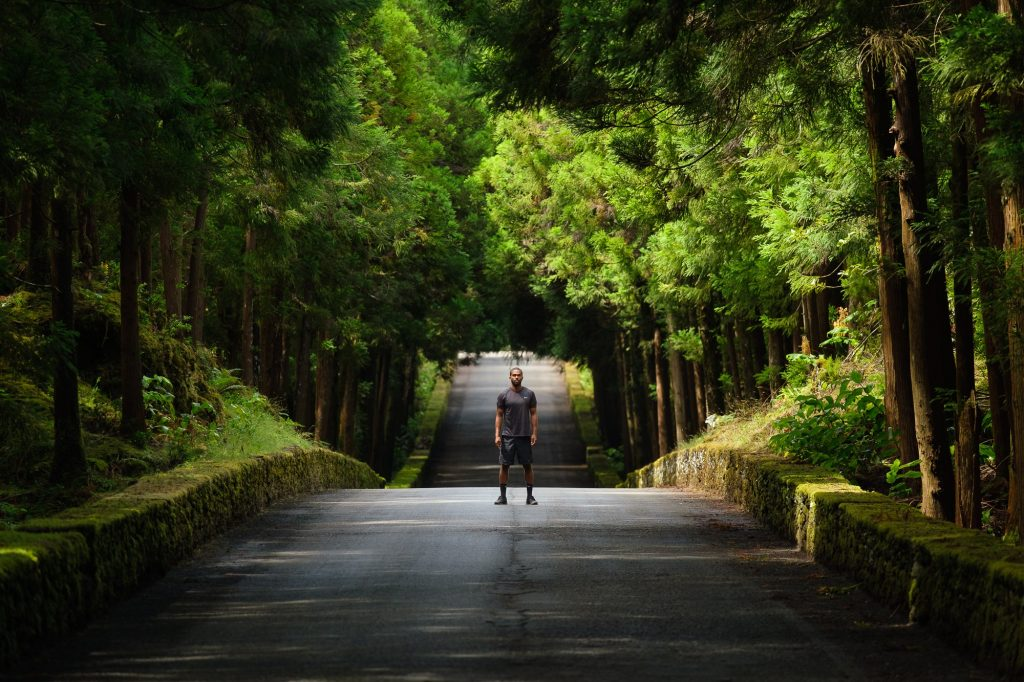 Man enjoying photosession on Insta Tour, Terceira Island, Azores