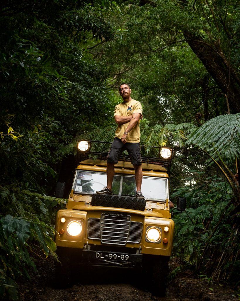 Land Rover 109 photoshoot, Matas da Agualva, Terceira Island, Azores